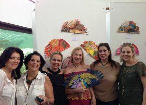 Exposición de abanicos artísticos pintados a mano