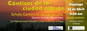 Banner Canticos de la ciudad celeste
